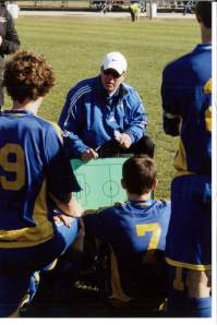 Shown above is Catholic Memorial head coach John Bisswurm.