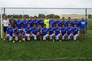 Shown above is the 2013 Catholic Memorial boys soccer teaam.