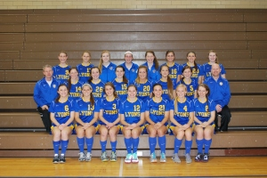 Shown above is the Lyons Township girls soccer team