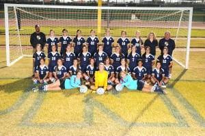 Shown above is the 2014-15 Desert Vista girls soccer team